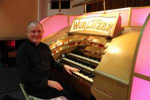 Fr Michael at the Kew Bridge Wurlitzer