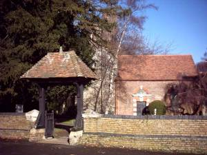 The lychgate and south side