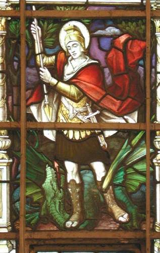 War Memorial window on the north side of the nave: